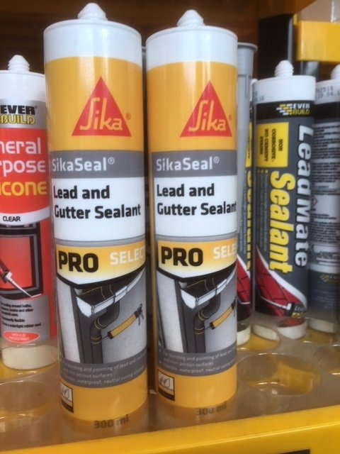 Lead and gutter sealant